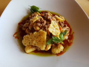 Gnocchi do restaurante Mythos