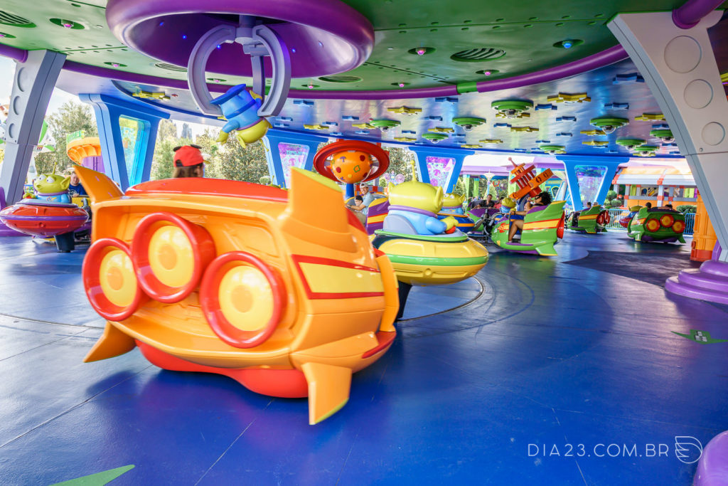 Alien Swirling Saucers na Toy Story Land