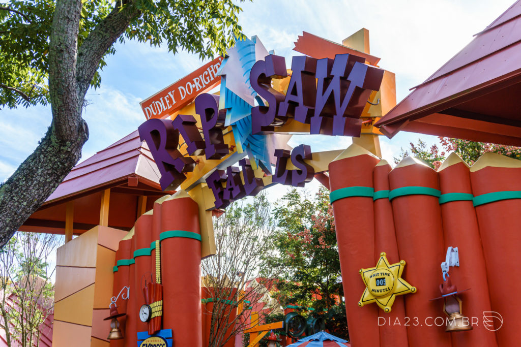 atração dudley do rights ripsaw falls islands adventure