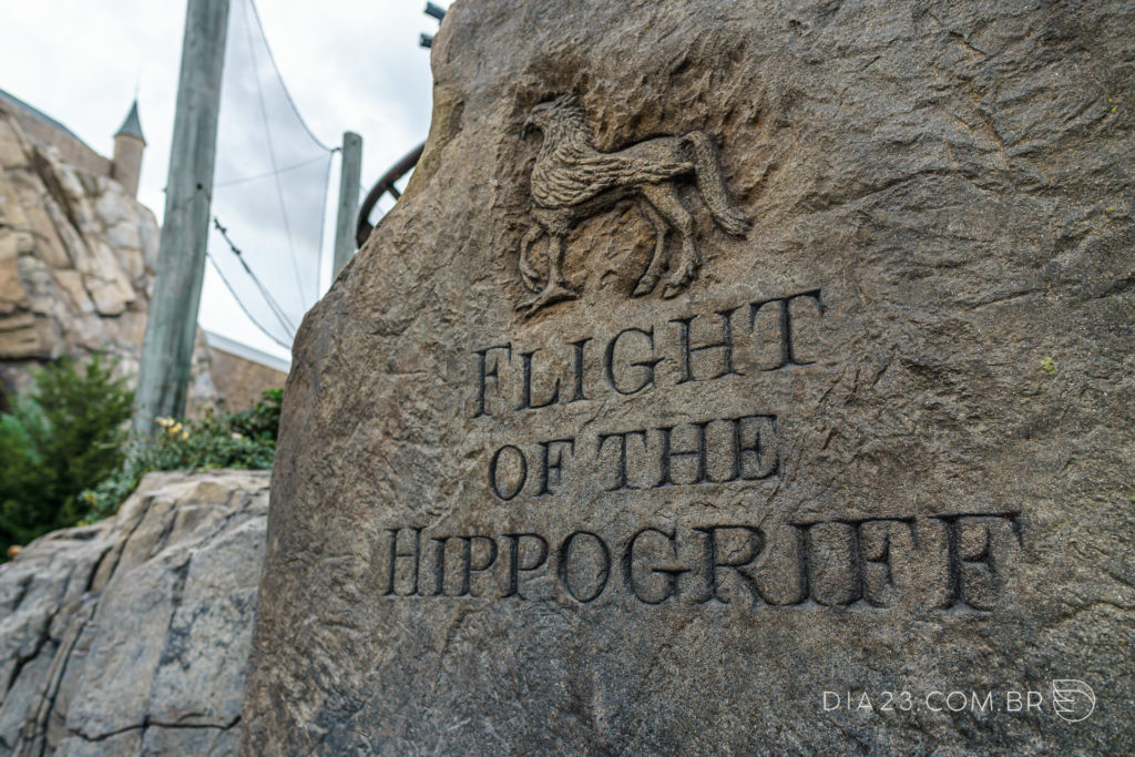 atração harry potter flight of the hippogriff islands adventure