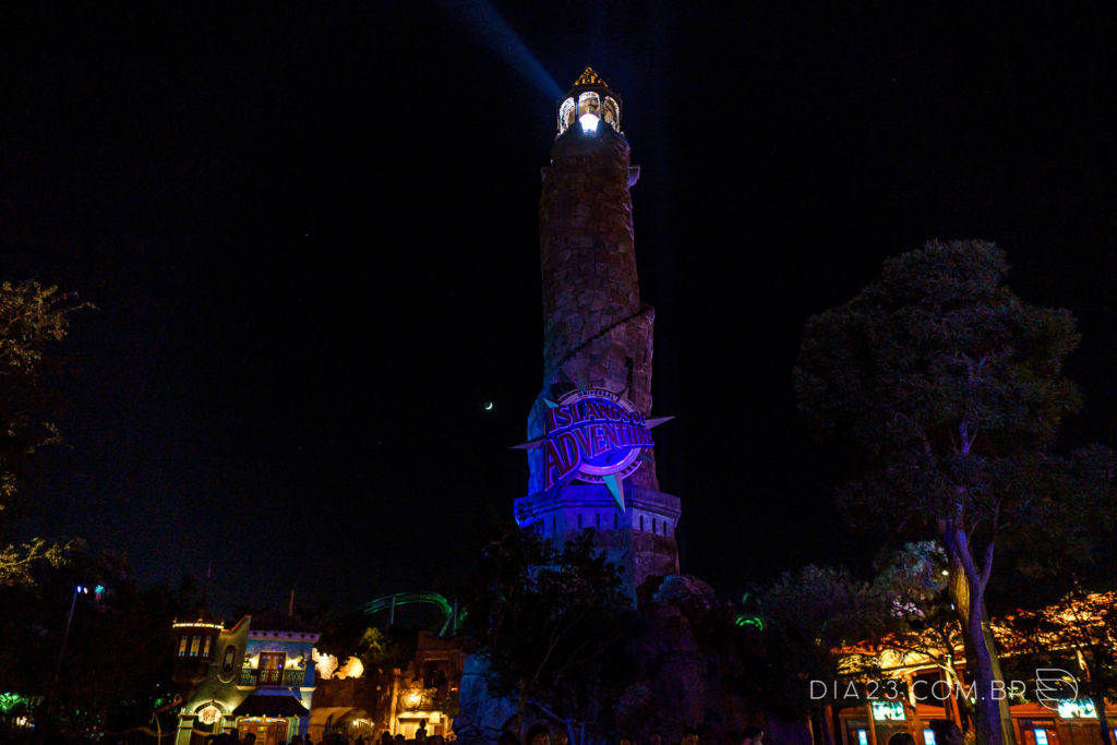 islands of adventure orlando noite