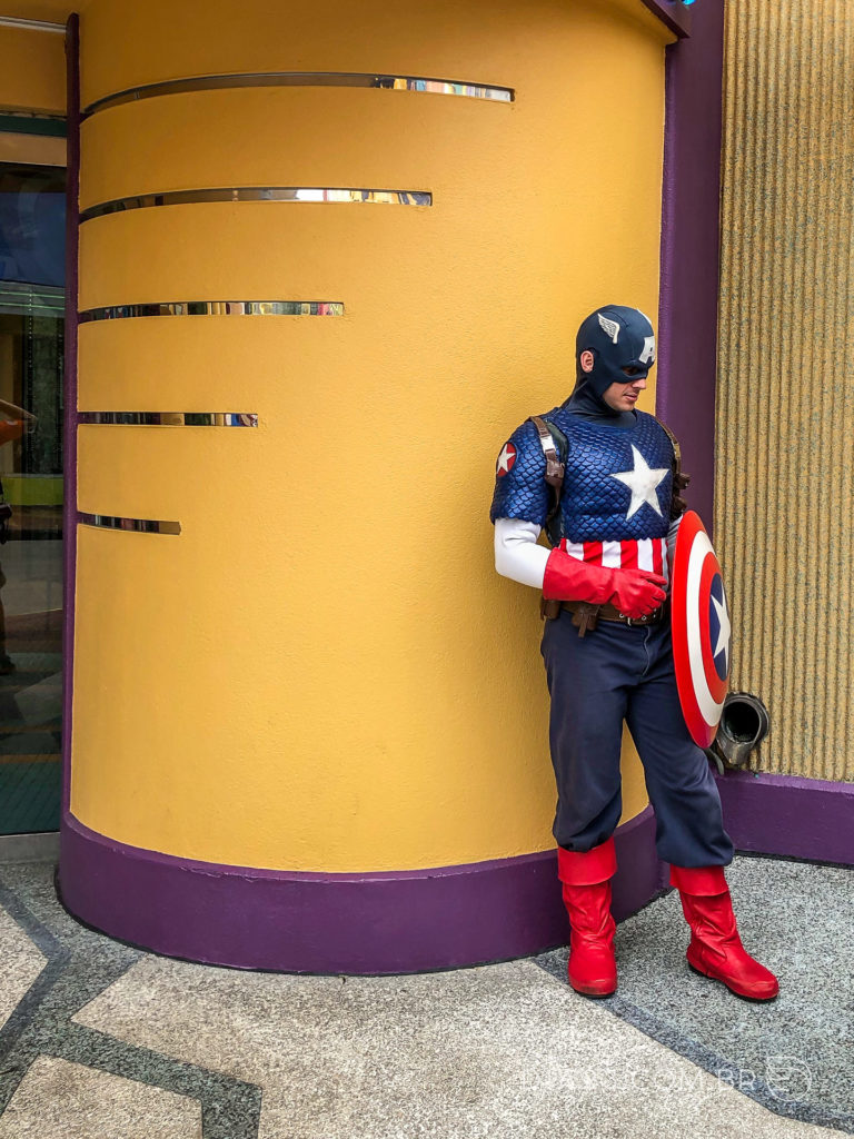 personagem capitão america islands of adventure